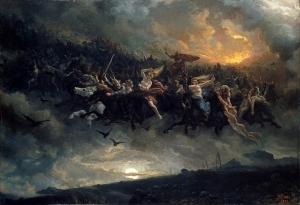 Die Wilde Jagd von Odin (1872) von Peter Nicolai Arbo